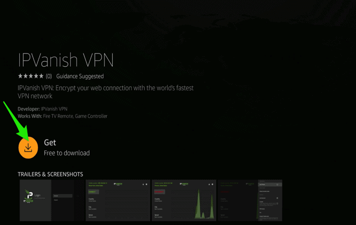 how to install a VPN on a Firestick IPVanish VPN Get