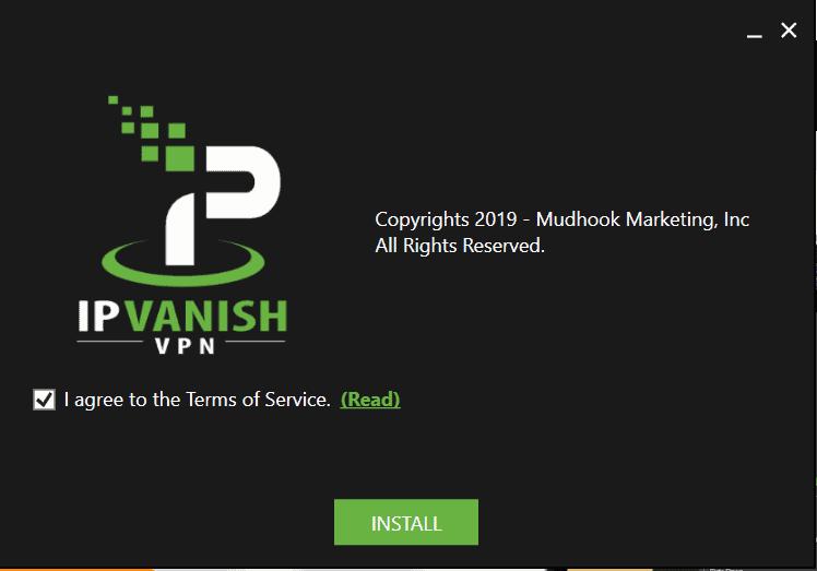 install IPVanish on Windows OS