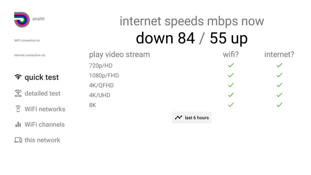 test internet speed on fire tv stick