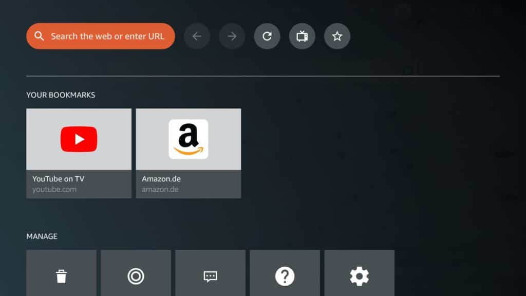 how to surf the web on a fire tv silk browser