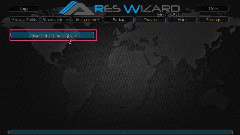 advanced settings ares wizard buffering