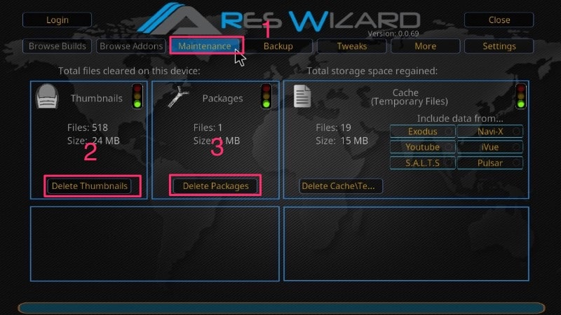 ares wizard maintenance buffering