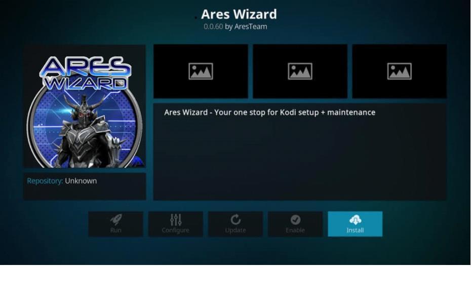 install ares wizard maintenance kodi