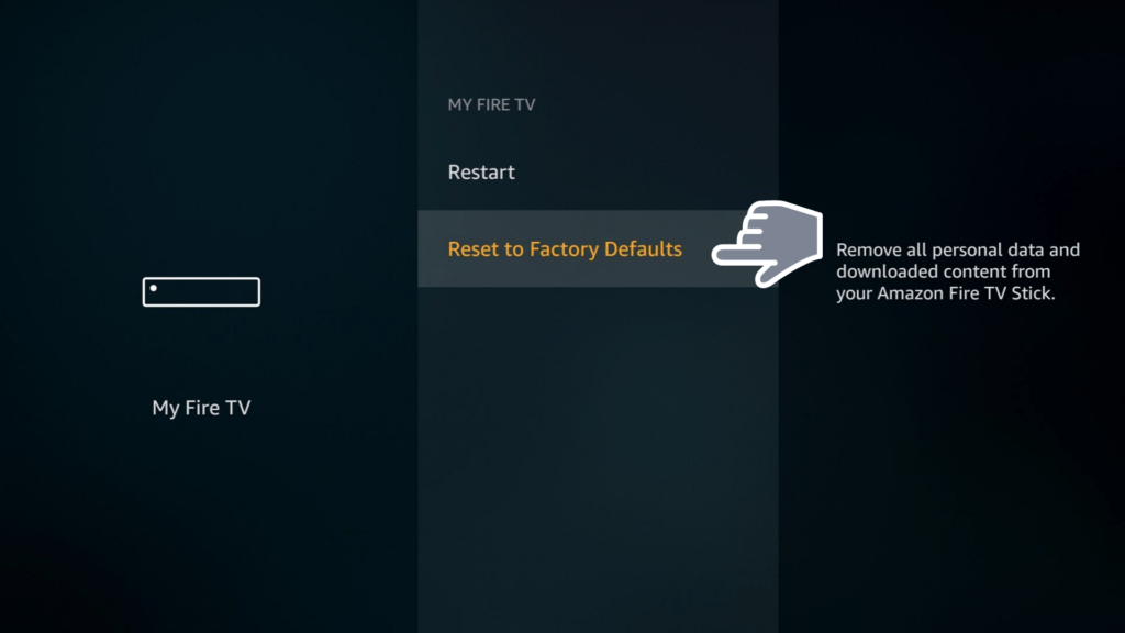 Reset Firestick to factory default