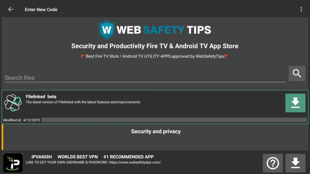 Websafetytip filelinked store code