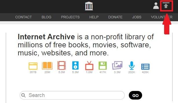 archive.org uplod