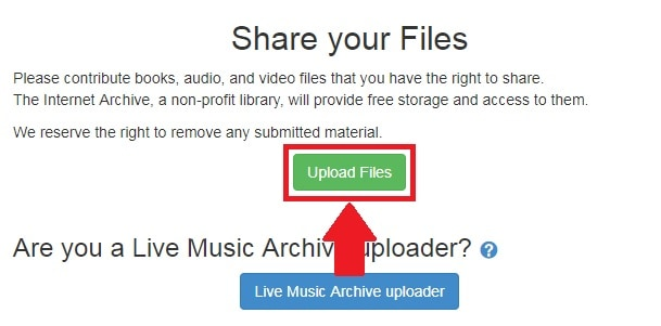 archive.org upload files