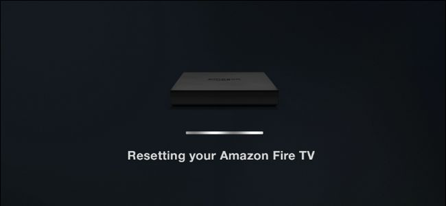 resetting amazon fire tv