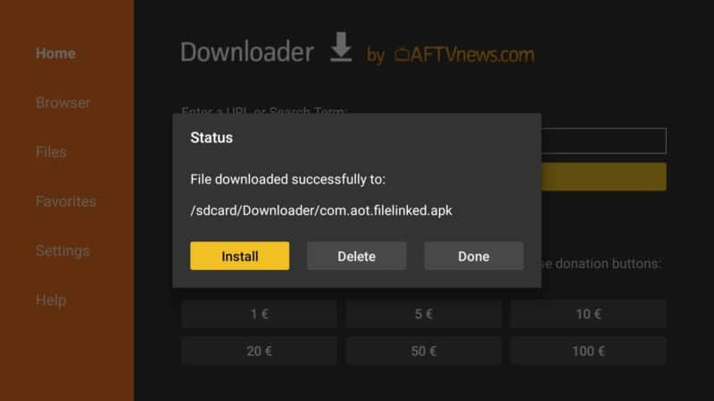 step 10 firestick lite downloader install button filelinked