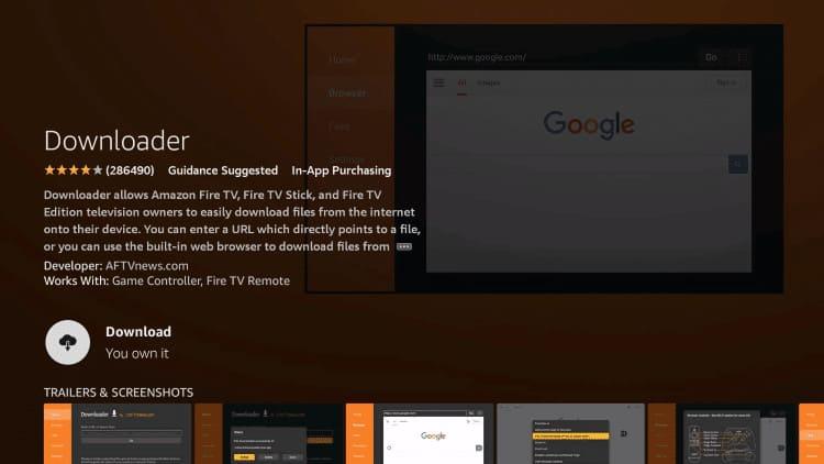 step 5 firestick lite install downloader