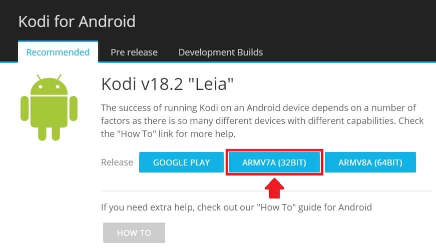 Kodi for android 32 bit