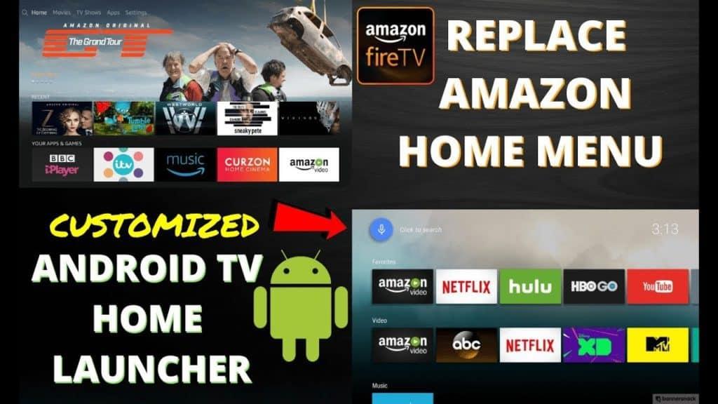 replace amazon home menu