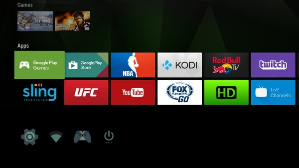 shield android tv homescreen