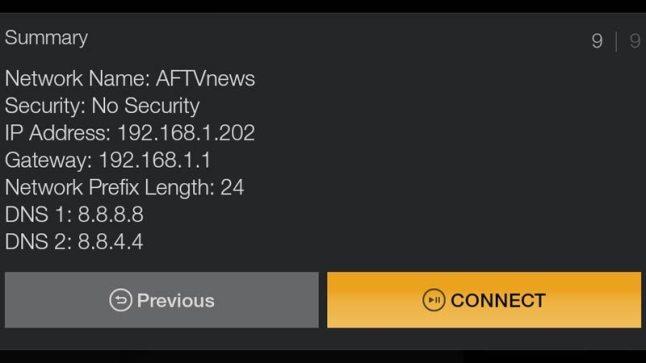fire tv dns