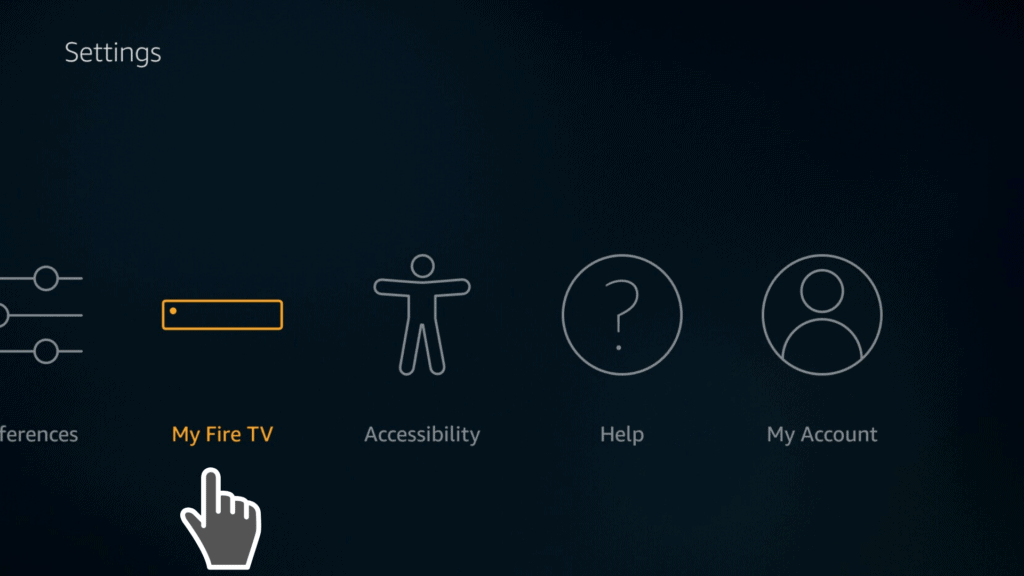 my fire tv on settings