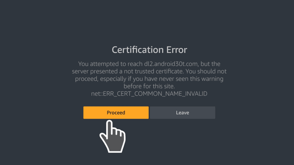 proceed on certification error