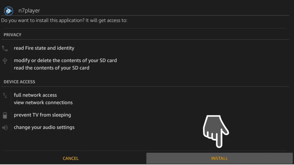 install n7player on firestick