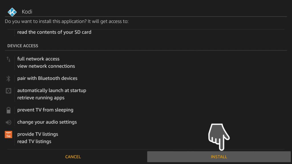 Install Kodi 18.3