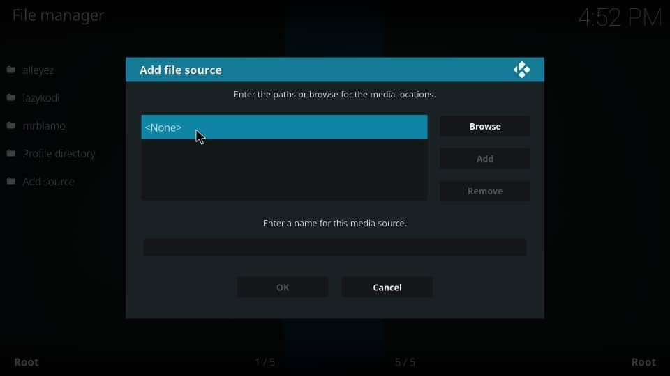 none file source