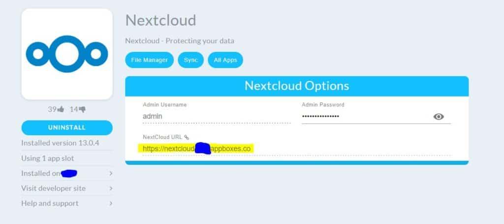 nexrtcloud options