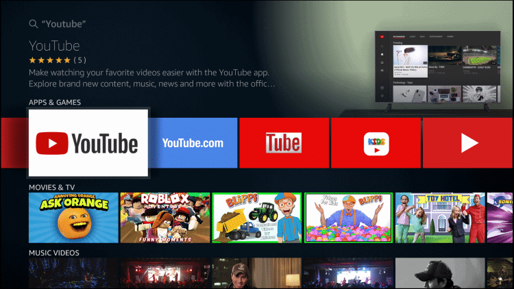 Fire Tv Stick Youtube