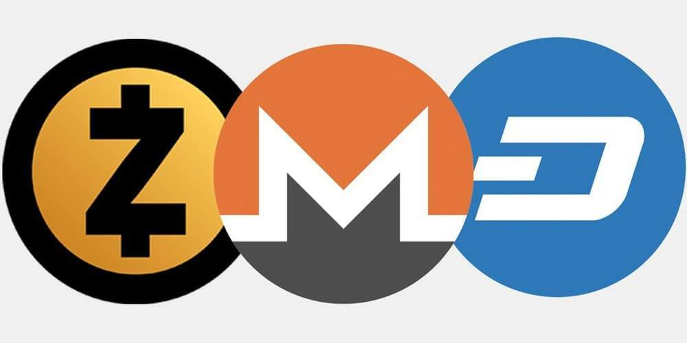zcash vs monero vs dash