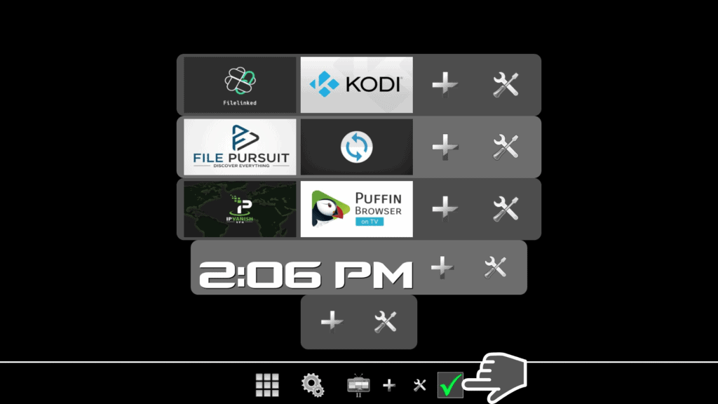 save layout on top tv launcher 2