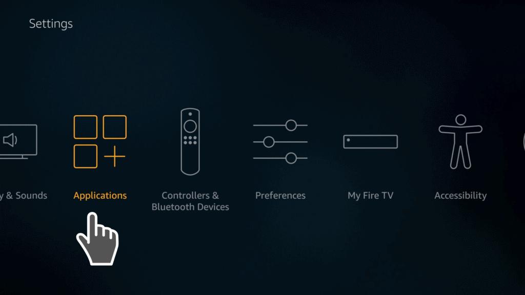 applications settings on firestick