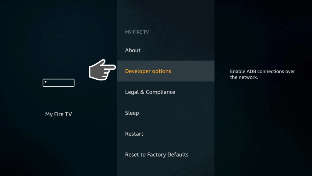 developer options on my fire tv