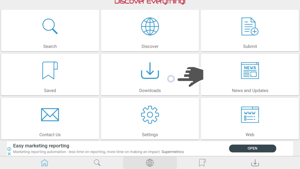 use mouse toggle on filepursuit