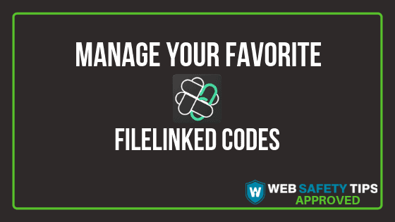 manage filelinked codes tutorial