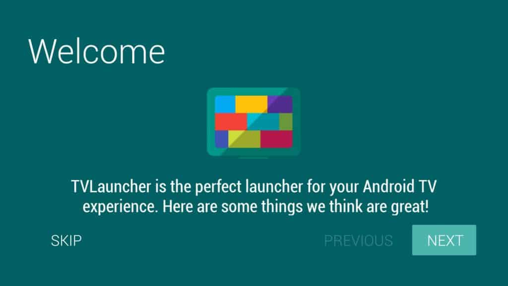 tv launcher initial tutorial