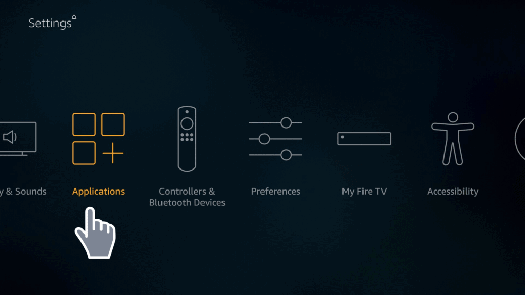 Firestick Applications on Settings