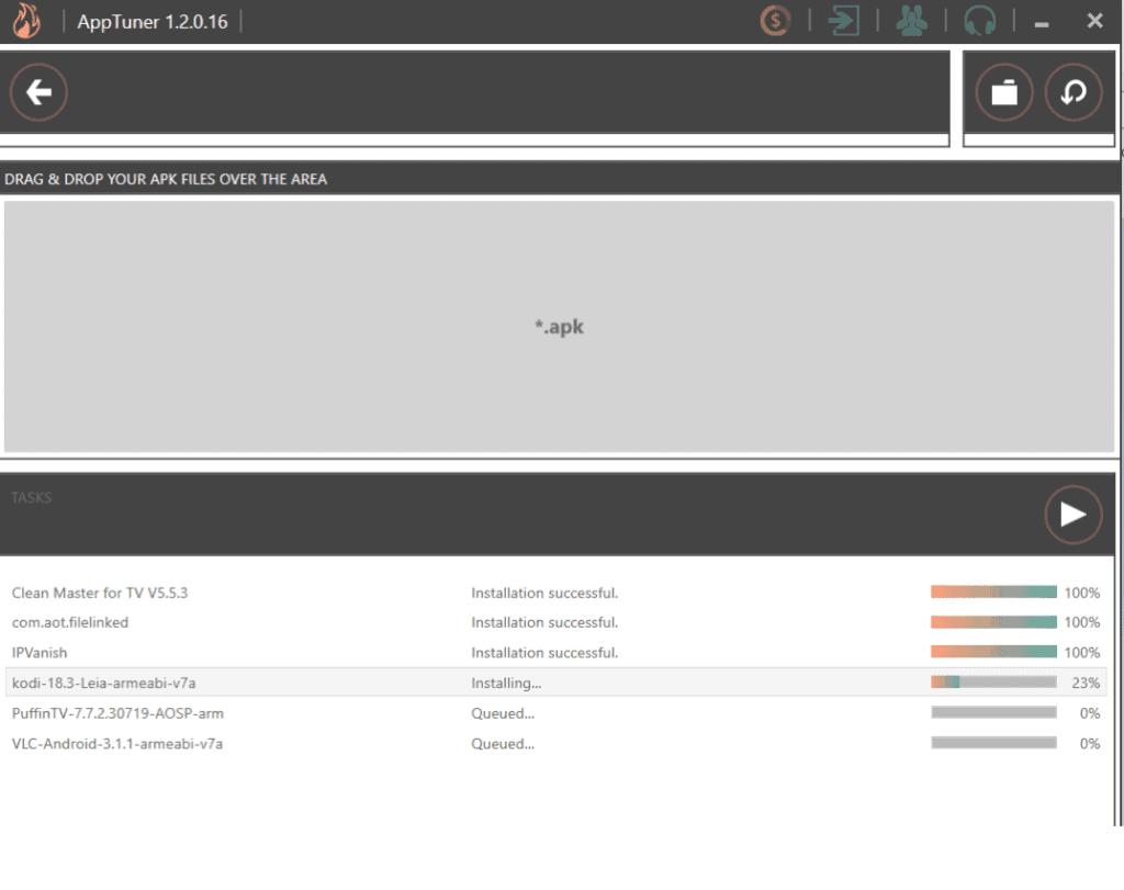 installation process on AppTuner