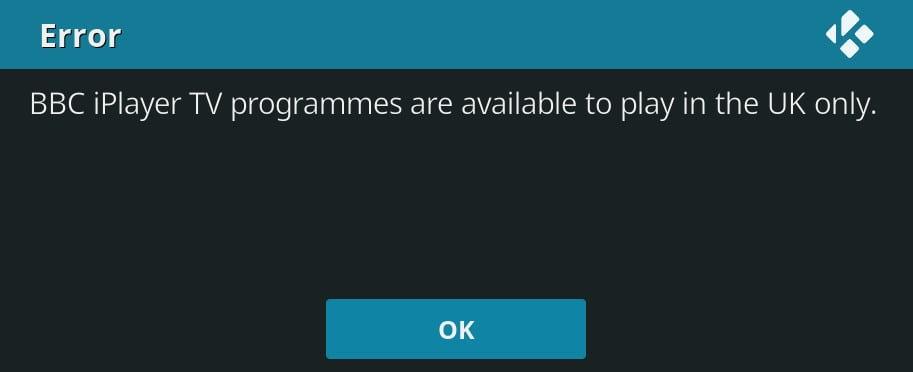 BBC iPlayer geo restriction