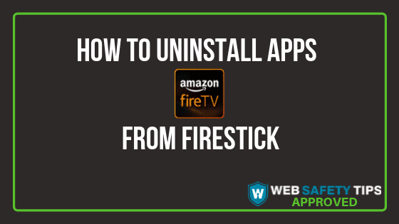 How to uninstall apps from Firestick tutoria