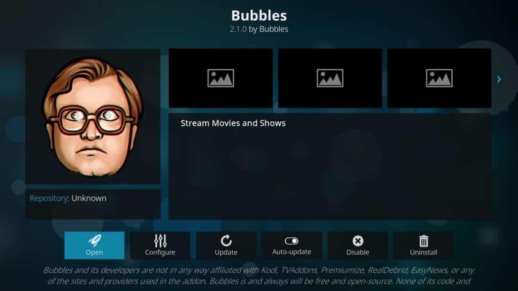 bubbles addon