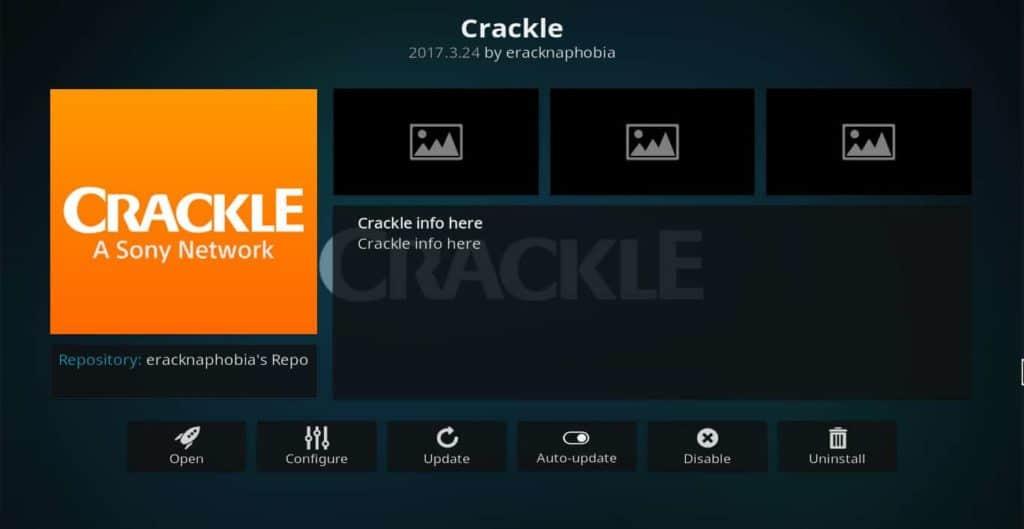 crackle addon