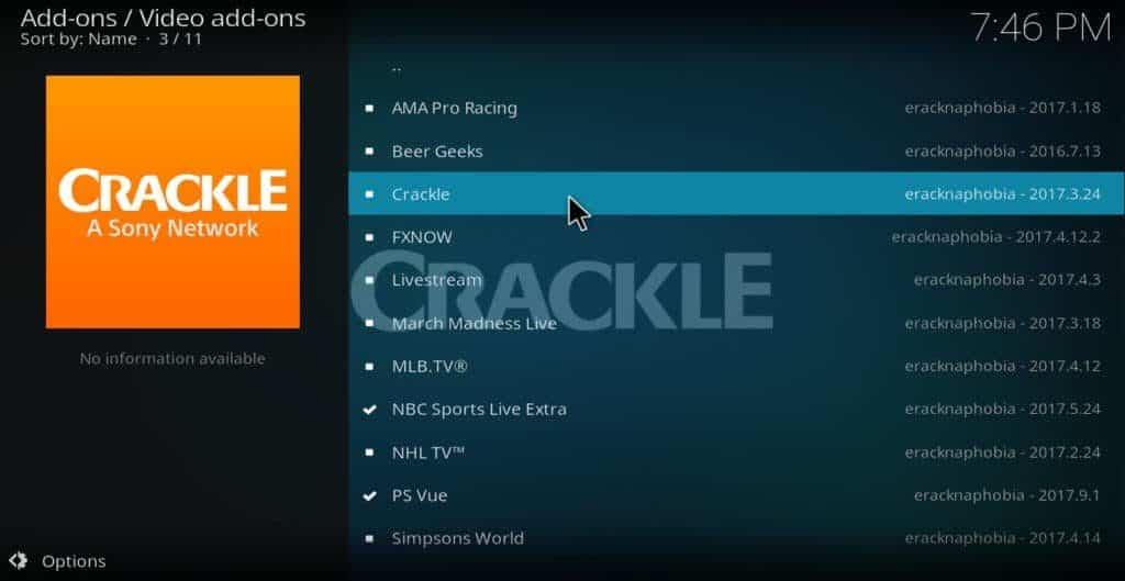crackle addon click