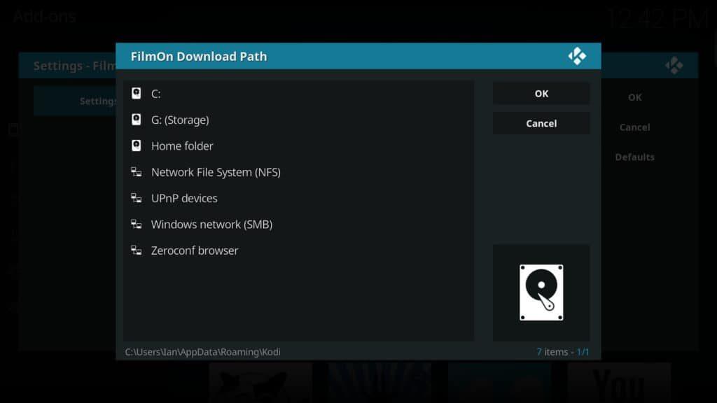 filmon download path