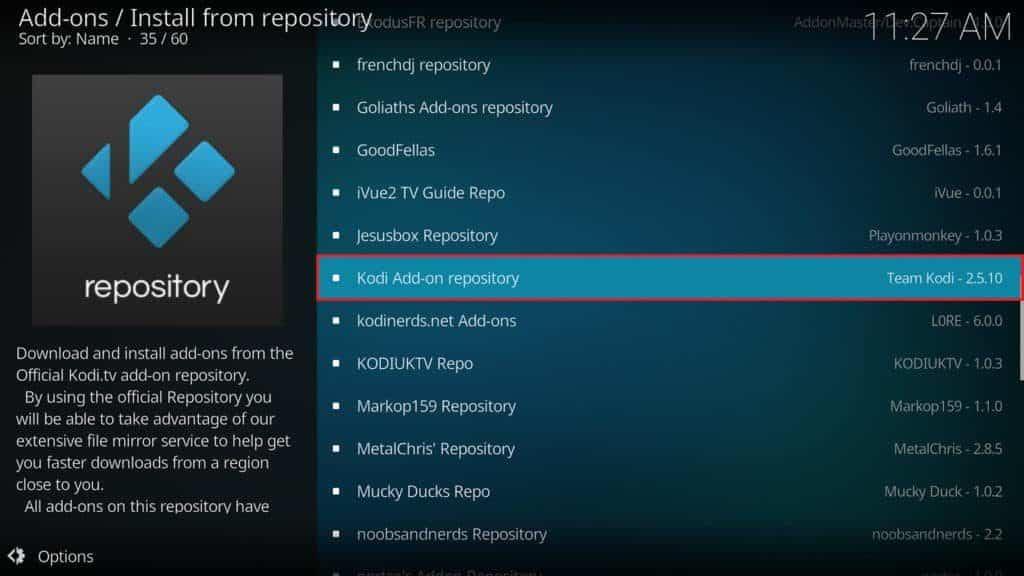 kodi add-on repository