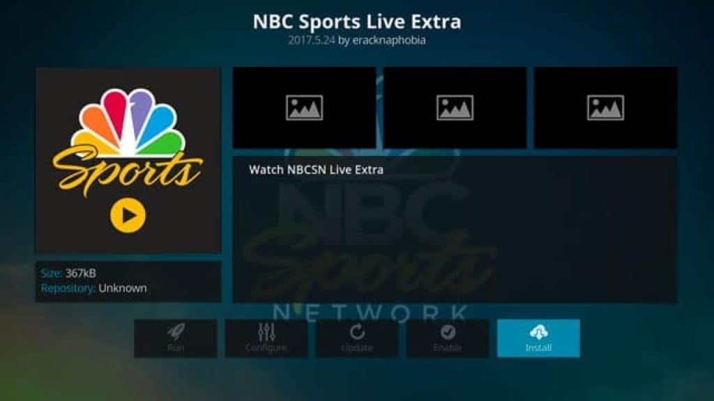 nbc sports live extra addon