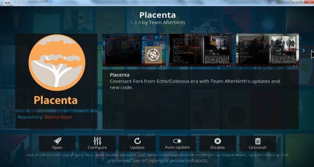 placenta addon