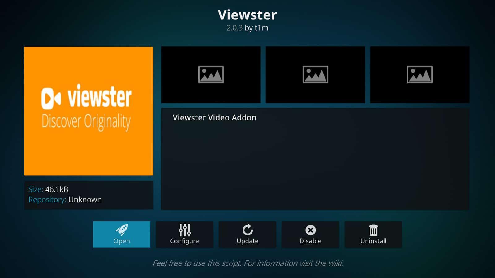 viewster addon