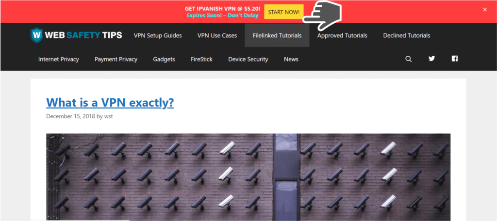 GET IPVANISH VPN START NOW