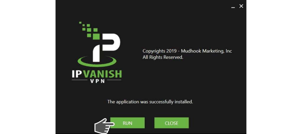 run IPVanish APP