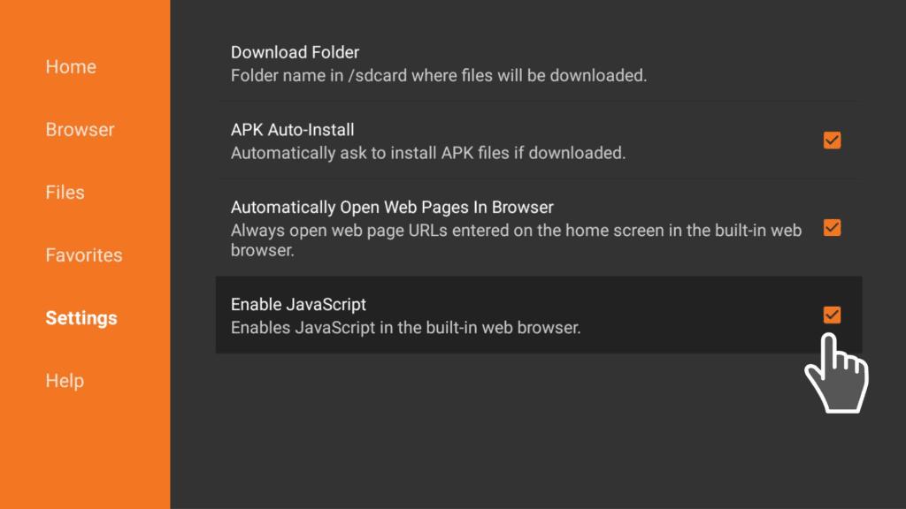 Enable Javascript ON