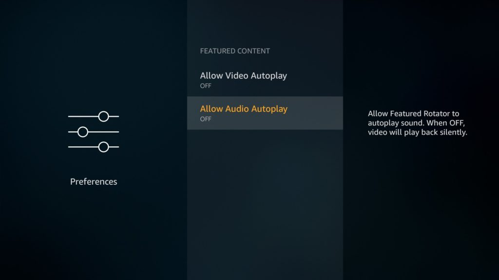 Featured Content Turn off