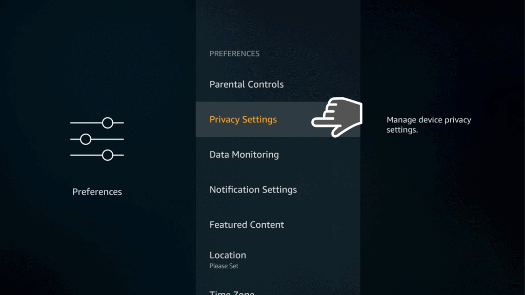 privacy settings on Firestick