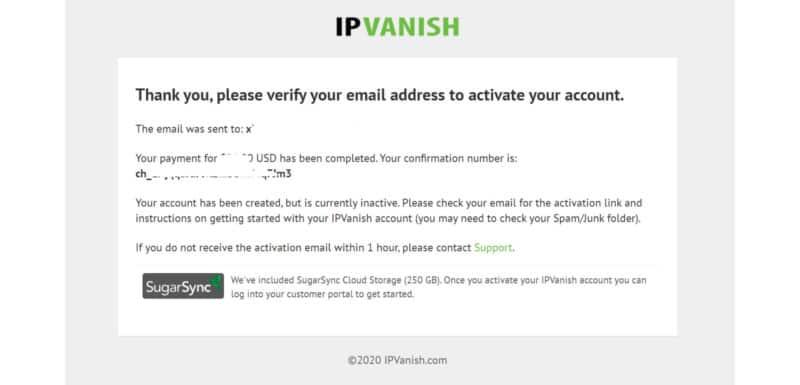 ipvanish activation